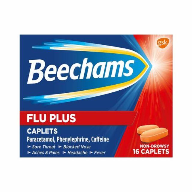 Beechams Flu Plus Caplets 16s