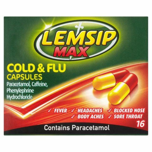 Lemsip Cold & Flu Capsules 16s