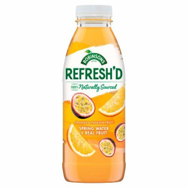 Robinson's Refresh'd Orange & Passion Fruit 500ml