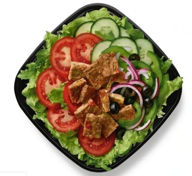 Plant Patty Salad