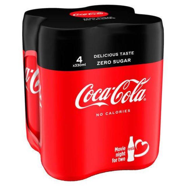 Coca Cola Zero Sugar Multipack 4's