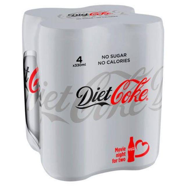 Coca Cola Diet Multipack 4's