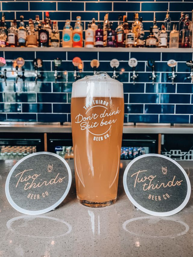 Two Thirds 'Don't Drink Shit Beer' Pint Glass