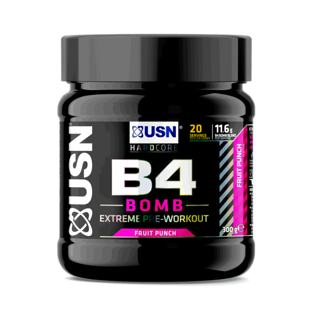 USN B4Bomb Pre-Workout Fruit Punch 300g
