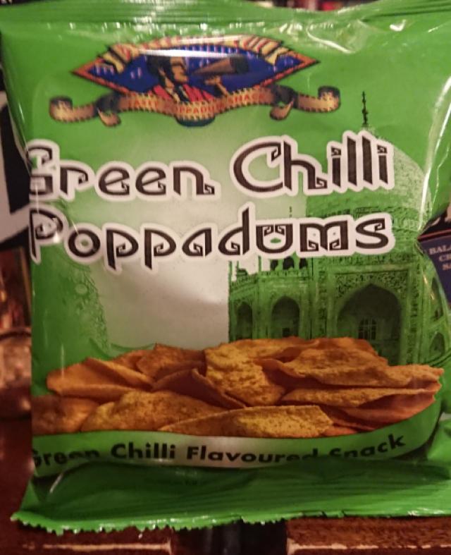 Directors Cut Green Chilli Poppadums