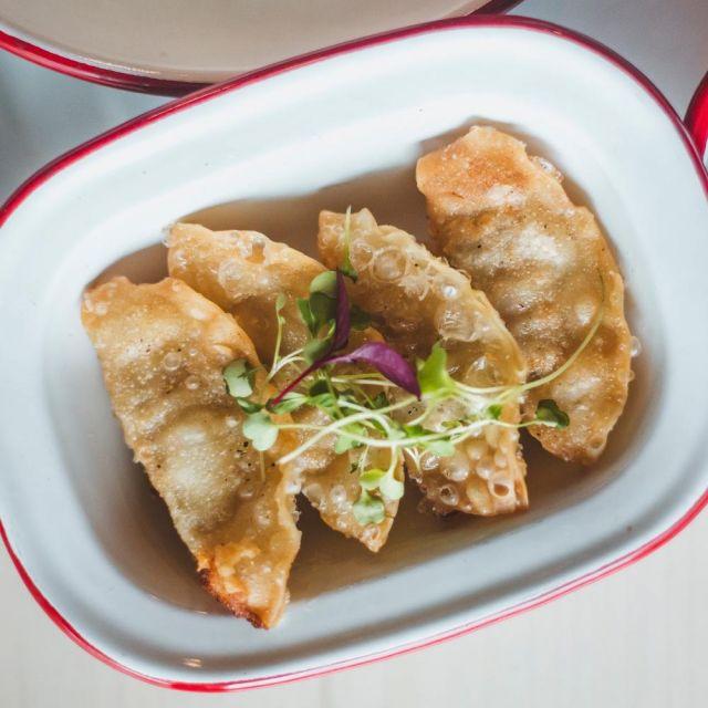 Fried Kimchi and Pork Mandu
