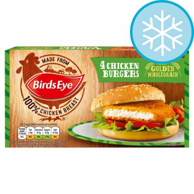 4 Chicken Burgers Birds Eye