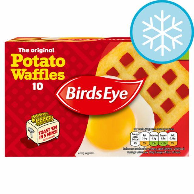 10 Potato Waffles Birds Eye