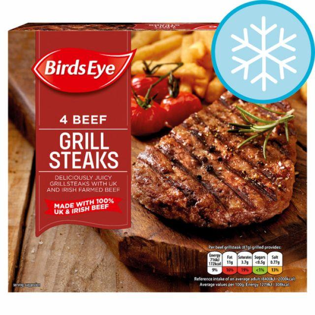 4 Steaks Birds Eye Grill
