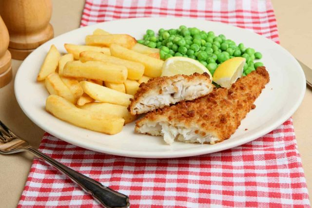 Fish Chips & Peas