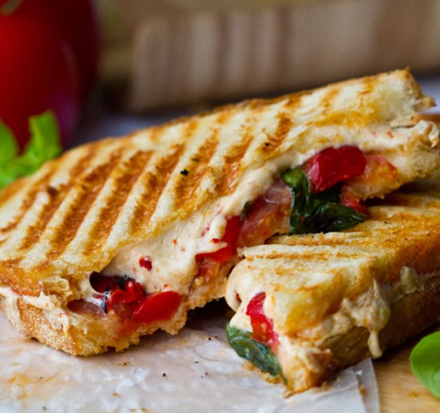 Cheese & Fresh Tomato Panini