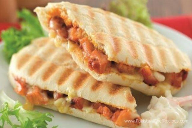 Cheese & Chicken Tikka Panini
