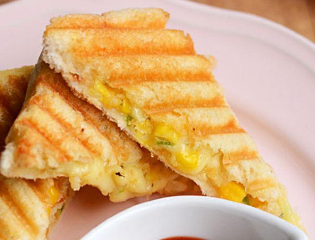 Cheese & Sweetcorn Panini