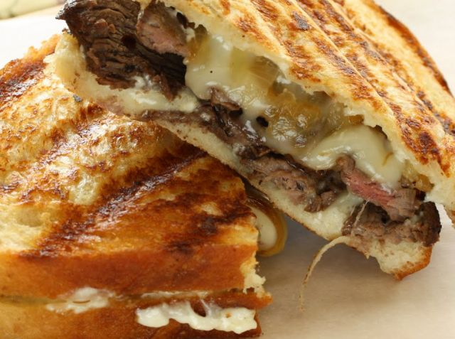 Cheese & Spicy Beef Panini