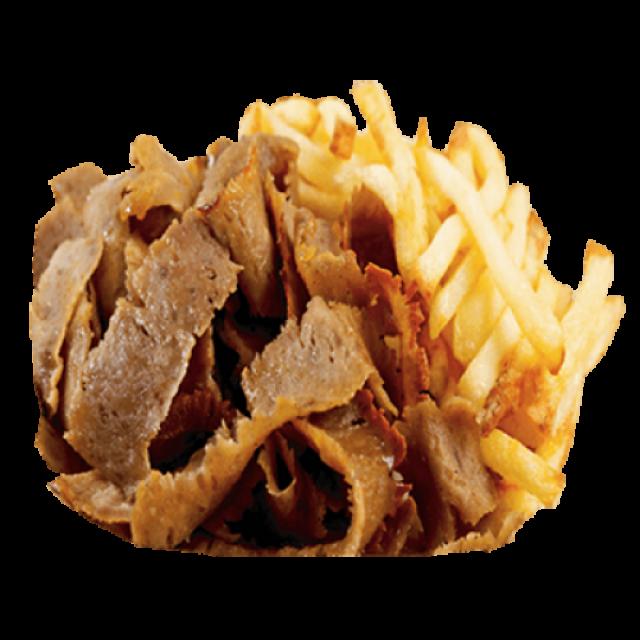 Large Lamb Doner Meat & Fries