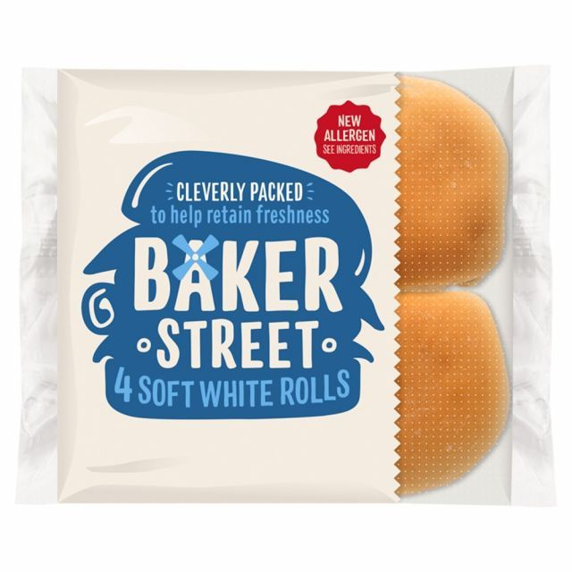 Bakers St White Roll 4 Pack