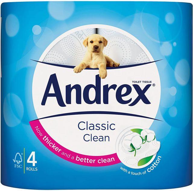 Toilet Rolls Andrex Classic Clean 4 Rolls