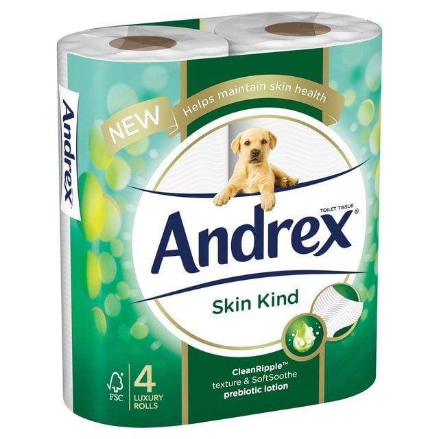 Toilet Roll Andrex Skin Kind 4 Rolls