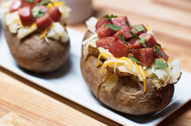 Sausage Jacket Potato