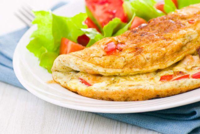 Onion & Tomato Omelette