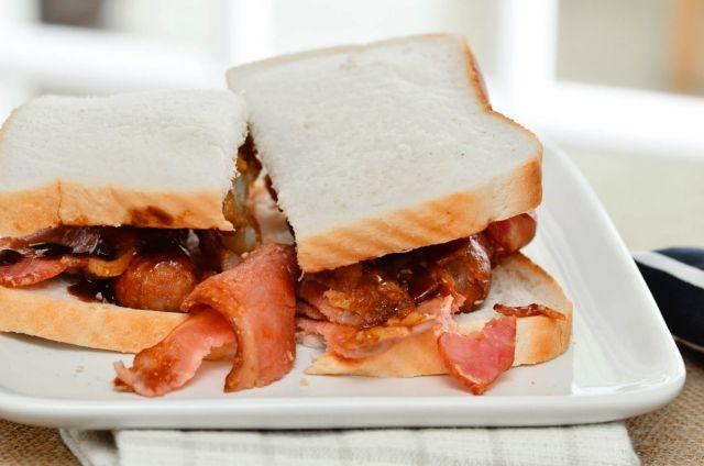 Sausage Bacon & Egg Sandwich