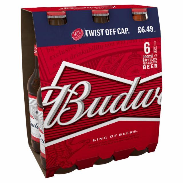 Budweiser 300ml 6 Pack