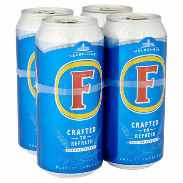 Fosters 4 x Cans