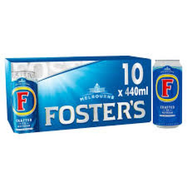 Fosters 440ml 10 x Cans