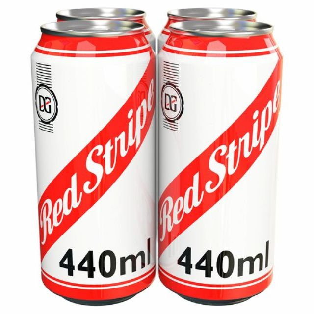 Red Stripe 440ml 4 Cans