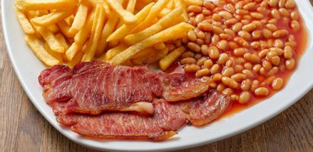 2 Bacon Chips & Beans