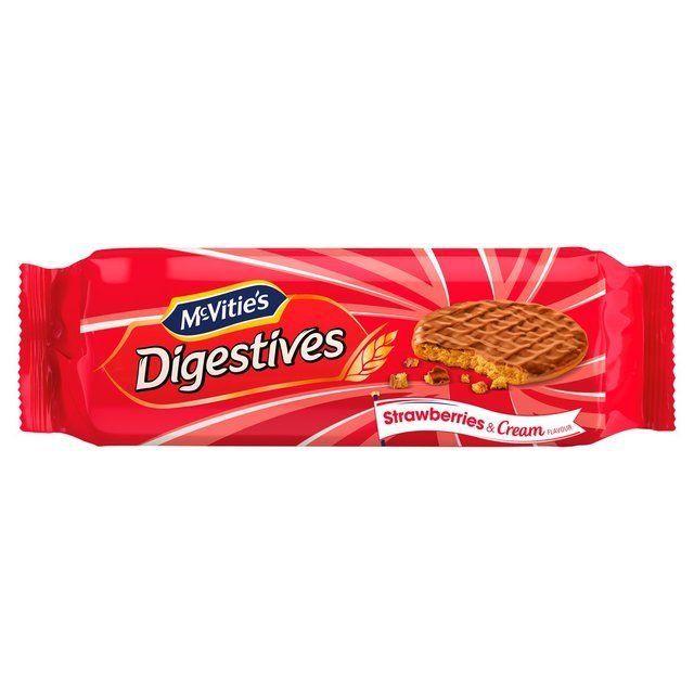 Mcvities Digestives Strawberry & Cream