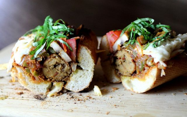 Veggie Sausage Baguette