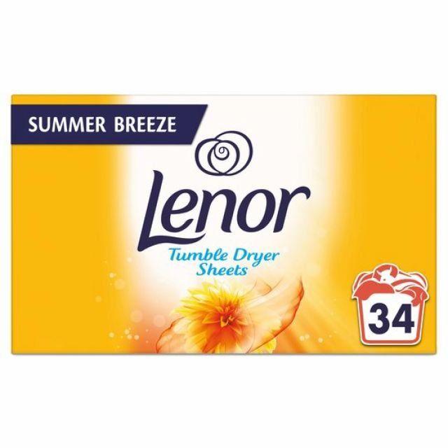 Lenor Tumble Dryer 34 Sheets Summer Breeze
