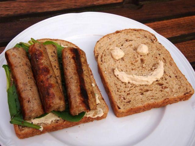 Veggie Sausage Sandwich