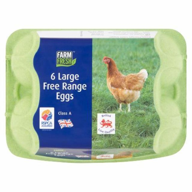Eggs Free Range 6 Large