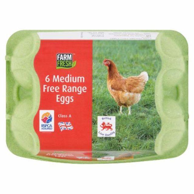 Eggs Free Range 6 Medium