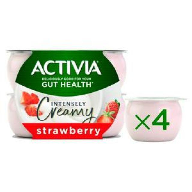 Yogurt Activia Strawberry 4 Pots
