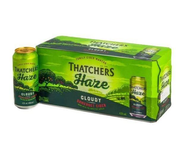 Thatcher Haze Cider 440ml 10 Cans