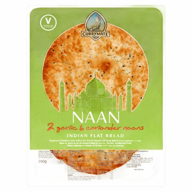 Garlic Naan Bread Currymate 2 Pack