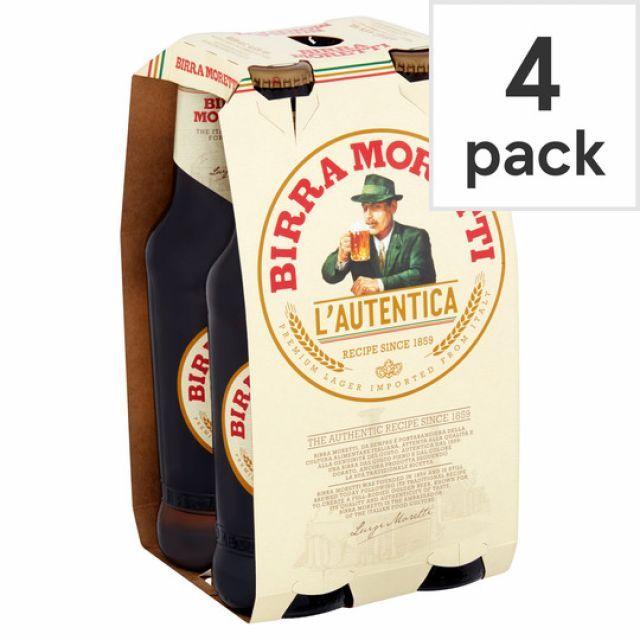 Birra Moretti 330ml 4 Pack