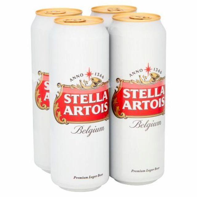 Stella Artois 568ml 4 x Cans
