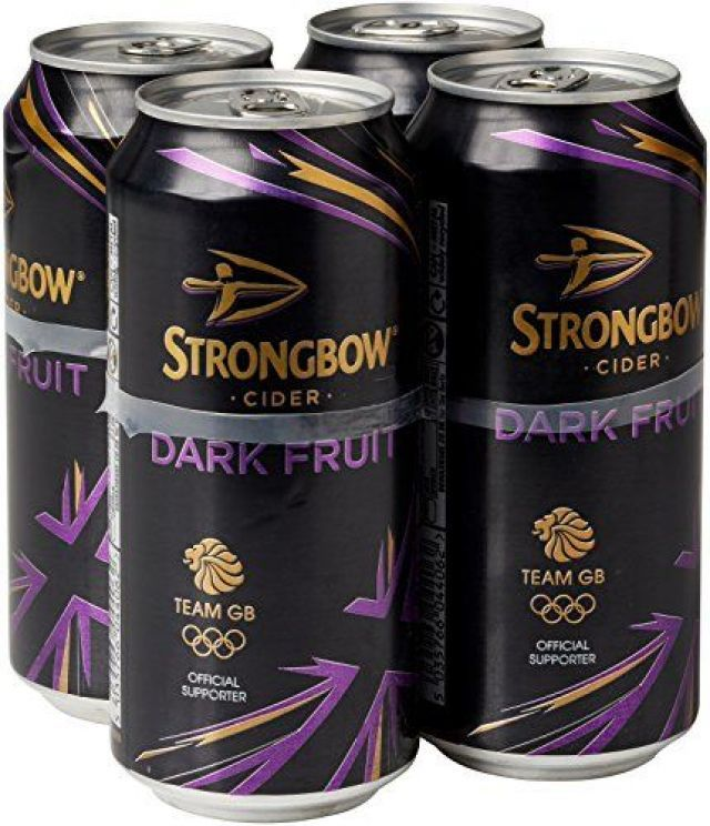 Strongbow 440ml 4 x Cans Dark Fruit