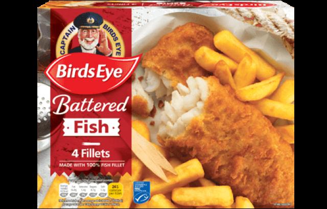 Fish Fillets Battered Birds Eye 4pcs
