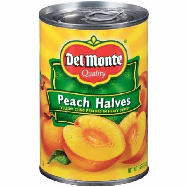 Del Monte Peach Slices Tin