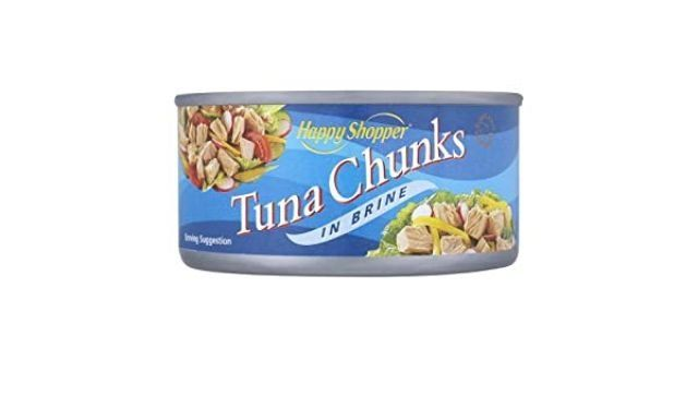 Tuna Chunks in Brine Tin Happy Shopper 160g