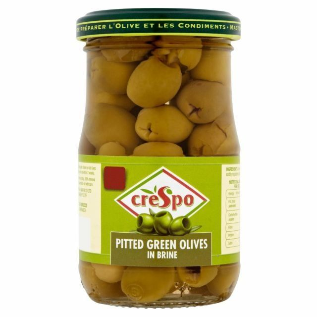 Pitted Green Olives Crespo 198g