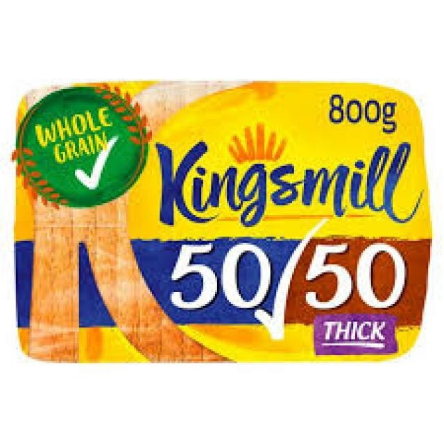 Kingsmill Thick 50/50 800g Bread