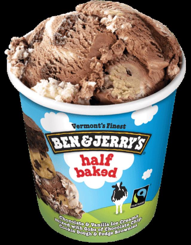 Half Baked Ben & Jerry Ice Cream