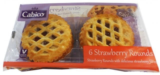 Strawberry Rounds Cakes Goodwyns 6 Pack