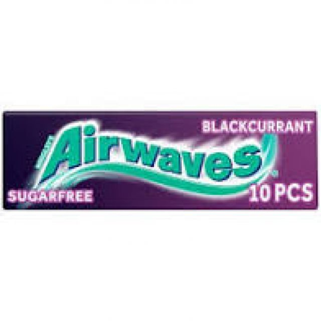 Chewing Gums Airwaves Blackcurrant 10pcs Sugar Free